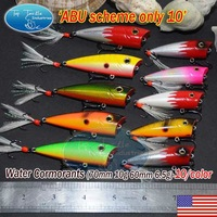 "Free shipping fishing lure-""ABU scheme omly 10"" fish popper-10pcs"