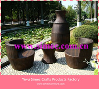 SIMEC wicker rattan garden set SCAC-004