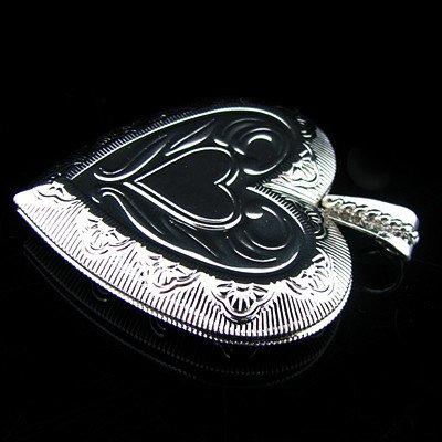Heart antique Silver Bronze Copper Pendant Retro Prayer Wish Box Locket carved Heart pendant 6pcs wholesale free shipping HA285(China (Mainland))