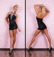 High quality! Sexy backless halter Clubwear, Fashion Dress, Clubbing Dresses, DL2376
