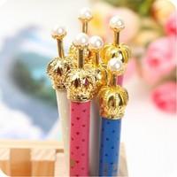 Retail Elegant Crown Ballpoint Pen Stationery (KB-23)
