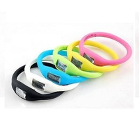 6 pcs/pack Mixed Color Fashion Wrist Sport Watch 1ATM Waterproof Silicone Watch (KH-18)