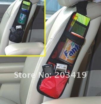 Car multi function Pocket Storage Organizer  Bag box for Back seat side chair Hanging  3 color black red blue CN post