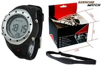 Free Shipping New Wireless Chest Strap Heart Rate Monitor Calorie Reader Digital Watch Round Dial Sport Watch