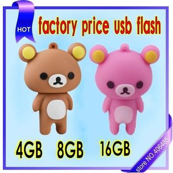 free shipping from  factory 16GBCute Rilakkuma Bear Style USB Memory Stick Flash Drive thumbdrive pendrive Pen