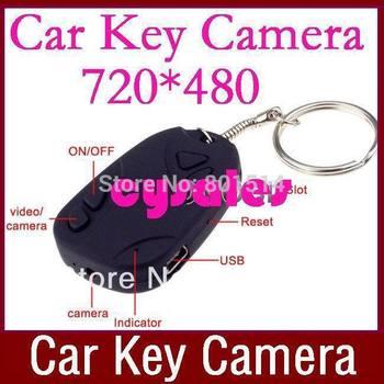 Crazy Hot Sale! Mini DV Car Key Wireless Video Cameras Camcorder Recorder DVR 808 Wholesale 100pcs/lot