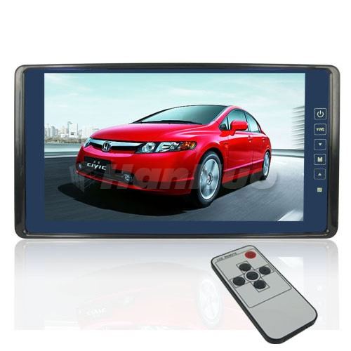 9 Inch Ultra Big LCD Widescreen High Resolution Car Rearview Mirror Monitor with Touch Button Having high quality TV system(China (Mainland))