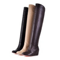 2013 New style wholesale fashion women Over-the-Knee boots wedges shoes 3 Colors Drop shipping  BGE777