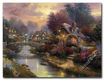 Free shipping Thomas kinkade Art Lamplight bridge print office decor modern wall decor decorative furniture 0167