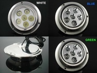 (4pc) x 6W BLUE Color, Stainless Steel, Underwater Yacht Boat Marine LED Light