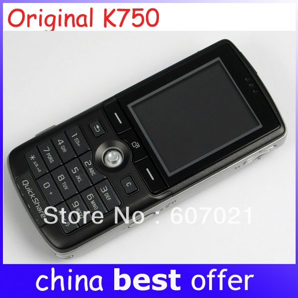 K750 Original Cell Phone Bluetooth FM JAVA 2MP Camera Cheap Classic Unlocked Phones 1 year warranty Free shipping(China (Mainland))