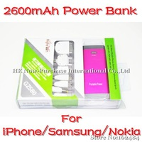 Wholesale 5pcs/lot 6800mAh Universal Portable Charger for iPhone,Nokia,Samsung with Flashlight Function & Drop Shipping