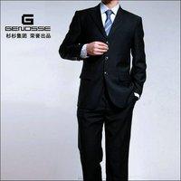 Mens Fashion Stylish Slim Fit One Button Suit Black J35  Slim Fit strip 2 Buttons FREE FAST SHIP & TIE