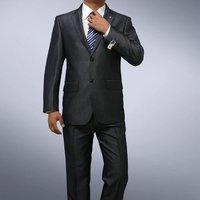 BROS Men's Premium Slim fit 1-button lustrous Black Suits SIZE US 34R - 40R S644