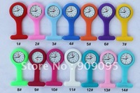 100pcs/lot Factory sales With Pin 11 colors Doctor Watch Silicon Silicone Nurse Medical Tunic Watch fashion Watches