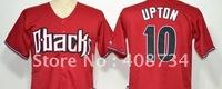 Free shipping-Arizona Diamondbacks #10 Upton red/black Fashion jersey,Diamondbacks jerseys,baseball jerseys