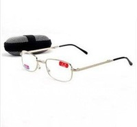 2014 NEW Popular folding metal readers  folded  Reading glasses with case  fold metal glasses +1.0 +1.5 +2.0 +2.5 +3.0 +3.5 +4.0