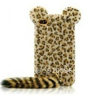 Golden Leopard with Long Tail Hard Case Cover For iPhone 4G 4S+FREE SHIPPING