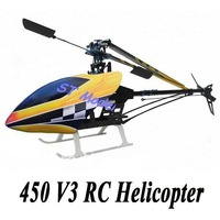 450V3 Sport RTF 2.4G 6CH channel Helicopter 450 RTF Helicopter liquid crystal display low shipping fee