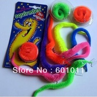 Trialsale 10pcs Magic worm New hotsale twisty worm Novelty toy mixed colors fast delivery free shipping