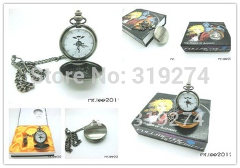 Wholesale/Retail 2012 Fashion Free Shipping FS Fullmetal Alchemist Edward Elric Pocket Watch Cosplay New