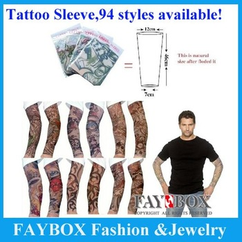 5pcs/lot! 94 styles,Novelty tattoo Most fashion and novelty body arm stockings body tattoo sleeve!