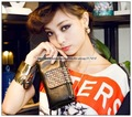 Free Shipping+ New Women Rivet Clutch Handbag+ Fashion Leather Punk Purse+ 5Colors