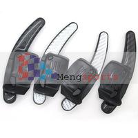 Real Carbon Fiber Golf 6/GTI/R20 Stainless Steel Steering Wheel Shift Paddles Black White