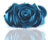 Hot 2013 Evening Bag , Flower Bride Bag Purse , full dress Party handbag Wedding Clutch Women Evening Purse Lady Gift EB034