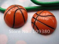 30pcs/lot, Flat back basketball