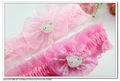 24 pcs per lot 2 colors cute hello kitty lace fabric flower kids baby infant hair ties hairbands & headbands H5024 free shipping