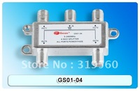 Satellite Splitter, 4 way splitter, catv splitter, GS01-04, 5-2400Mhz antenna splitter, RF Signal Combiner