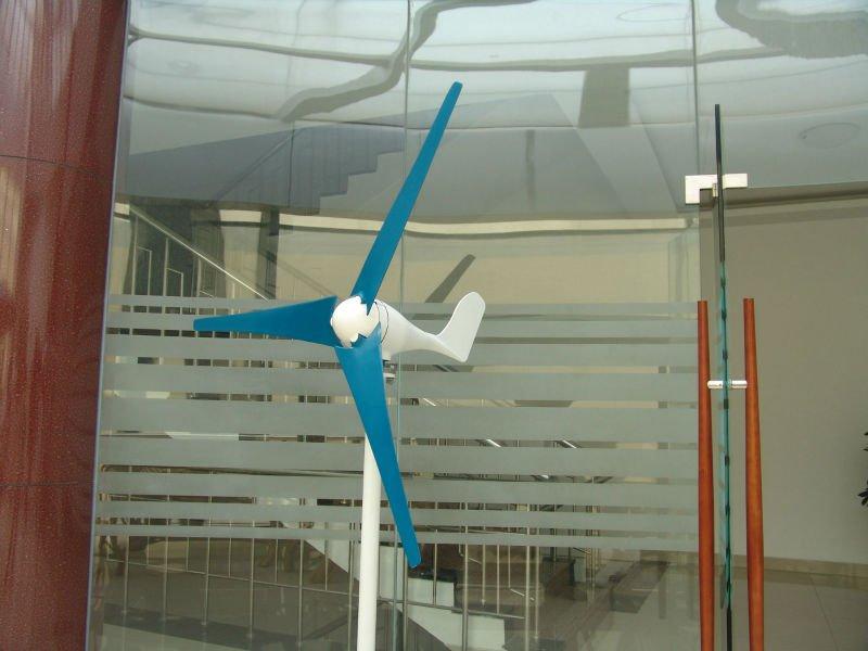 horizontal yacht wind turbine 200w 12V/24VAC for streetlight wind solar hybrid system(China (Mainland))