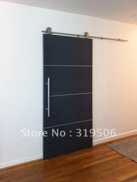 Modern stainless steel barn door hardware free shipping sliding door