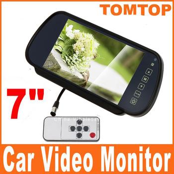 "7"" TFT LCD Color Screen Car Monitor rearview camera VCR  K379 Shipping Dropshipping Wholesale"