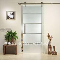 Modern glass barn door hardware with free shipping