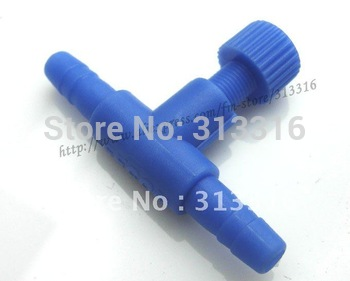 Free shopping,Aquarium fish tank CO2 10Pcs clear straight connectors Blue Plastic Air Control Valve ,Airline Connector