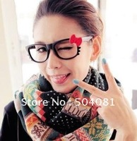 DIY handmade fashion lady girl Hello Kitty ribbon Glasses kt cat frames more than 100 colors,order more than 158ps, free EMS sh
