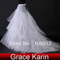 Free Shipping 1pcs/lot GK train Wedding Bridal Gown Dress Petticoat Underskirt Crinoline CL2709