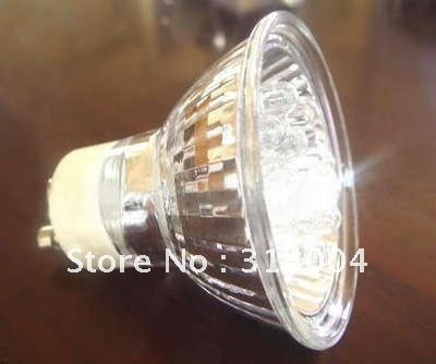 ( fre shipping ) 10pcs 21 LED Spot Light Bulbs Cool White Lamp GU10 energy Bulb (Skin hair + retail)(China (Mainland))