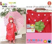 Free Shipping LINDA animal Kids Raincoat, Children Raincoat, Children rainwear