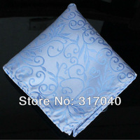 Free shipping Gentleman Men's Fashion Novelty Sky Blue Floral Marriage Hankies/Pocket Squares /Hankerchief