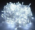 1 pcs White 100 LED String Decoration Light 10M for Christmas Party Wedding 110V With 8 Display Modes, Free Shipping
