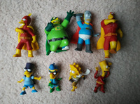 "The simpsons 4"" PVC figure decoration action figure children toys ( 8pcs/set) Free shipping"