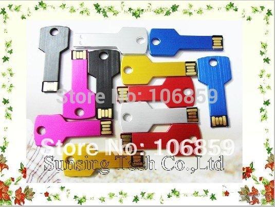 8GB USB Flash memory -Metal Key shape+ various colour+ Custom Logo making+ Free shipping + Free gift 8GB TF Card(China (Mainland))
