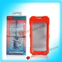 Underwater 3M Waterproof Phone Case for iPhone 4S/ iPhone 4(Red)