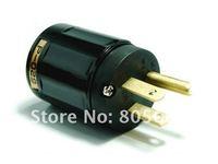 New High performancen Audio Grade P-029 Brass US Power Plug(Black)