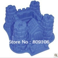 Wholesale ,Silicone Castle Shapes Cake Mould chocolate Baking Cupcake  Pan ,free shipping