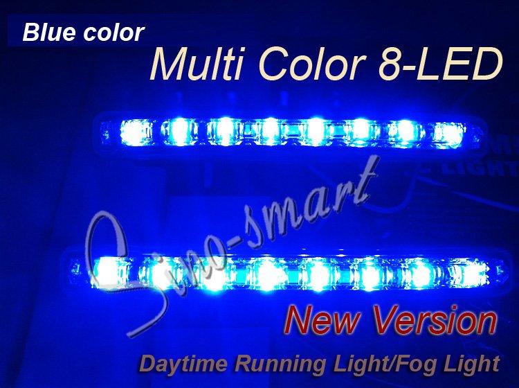[해외]Free shipping New 8LED blub Daytime Running Light ..