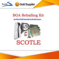 BGA Reballing Kit with 6pcs 80*80mm PS3 BGA Stencils+BGA Accessories